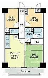 ライオンズマンション稲毛第2[2階]の間取り