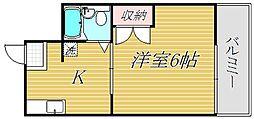 東京都板橋区栄町の賃貸マンションの間取り