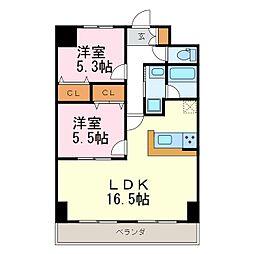 フォレスタ阿由知[3階]の間取り