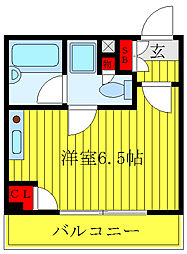 東京メトロ千代田線 千駄木駅 徒歩3分の賃貸マンション 4階ワンルームの間取り