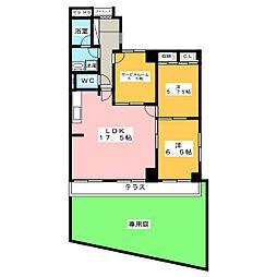 城山パークマンション[1階]の間取り