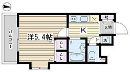 プレールドゥーク文京本駒込[5F号室]の間取り