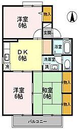 愛媛県松山市鷹子町の賃貸アパートの間取り