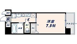 近鉄大阪線 長瀬駅 徒歩1分の賃貸マンション 5階1Kの間取り