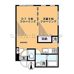 東京都大田区西嶺町の賃貸マンションの間取り
