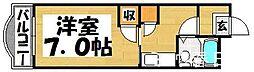 福岡県大野城市栄町2丁目の賃貸マンションの間取り