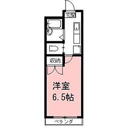 安田学研会館 中棟[305号室]の間取り