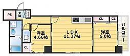 HERITAGE高井田(ヘリテージ高井田)[2階]の間取り