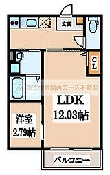 CASA VIVACE 北野田(カーサ ヴィヴァーチェキタノダ)[2階]の間取り