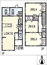 [一戸建] 三重県桑名市大字東方 の賃貸【/】の間取り