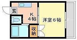 岡山県岡山市南区豊成1丁目の賃貸マンションの間取り