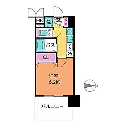プレサンス名古屋城前ラバンカ[7階]の間取り