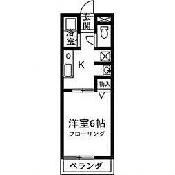 レトア中村B[201号室]の間取り
