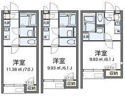 神奈川県茅ヶ崎市菱沼3丁目の賃貸アパートの間取り