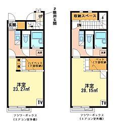 兵庫県たつの市龍野町宮脇の賃貸アパートの間取り