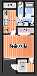 タツミビル[3階]の間取り