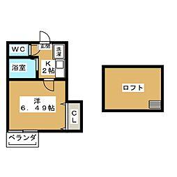 愛知県名古屋市西区児玉2の賃貸アパートの間取り
