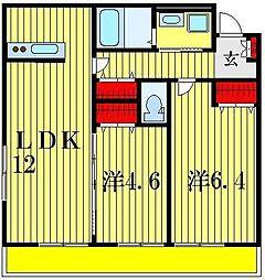 (仮称)高砂八丁目アパート[1階]の間取り