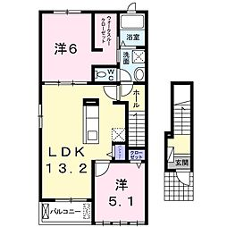レジデンス・ドリームIII[2階]の間取り