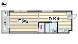 ハイツ松本[305号室]の間取り