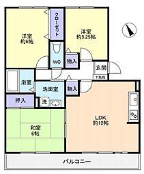 八千代台南ガーデンパレスC[1階]の間取り
