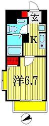 ミリアビタNo.15[8階]の間取り