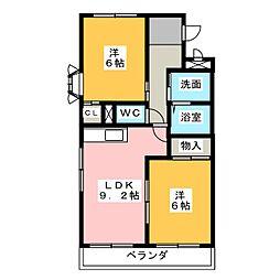 ラヴィーヌ・E[2階]の間取り