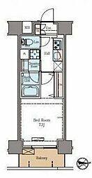 東京メトロ日比谷線 仲御徒町駅 徒歩6分の賃貸マンション 9階1Kの間取り