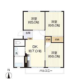 第1生田ハイツ-103[103号室]の間取り