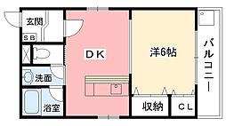 ドムール甲子園[201号室]の間取り