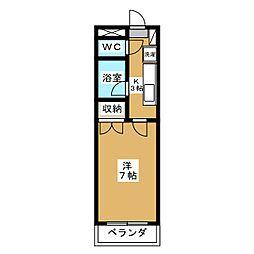 エコービル南仙台[3階]の間取り