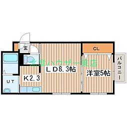 (仮)北14東1 B棟[3階]の間取り