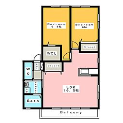 Casa Camelia[2階]の間取り