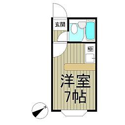 ベルピア鎌倉第7[105号室]の間取り