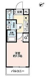 JR中央本線 吉祥寺駅 徒歩10分の賃貸マンション 1階1Kの間取り