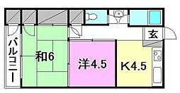 土居田ハイツ[8 号室号室]の間取り