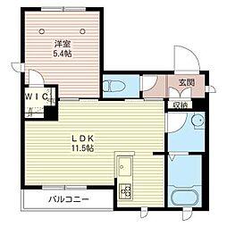 アルフラットK[1階]の間取り
