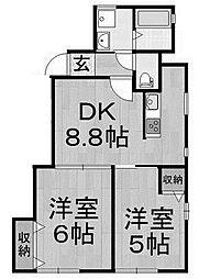 メゾンヴェール相模[2階]の間取り