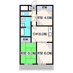 クレインマンション[6階]の間取り