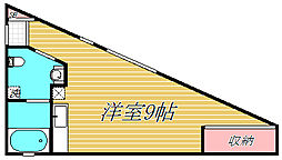 東京都大田区池上8丁目の賃貸マンションの間取り