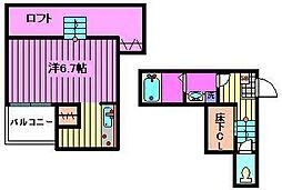 CB七里レフィノ[105号室]の間取り