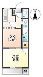 レジデンス大島[2階]の間取り