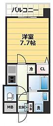 S-RESIDENCE緑橋駅前[8階]の間取り