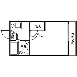 和歌山県和歌山市中之島の賃貸アパートの間取り