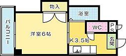 華山第一ビル[607号室]の間取り