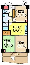 ライオンズマンション上大岡第10[1階]の間取り
