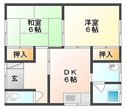 [一戸建] 岡山県倉敷市茶屋町 の賃貸【/】の間取り