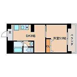 奈良県大和高田市幸町の賃貸マンションの間取り