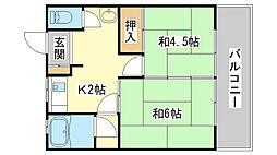 さつき荘[2-2号室]の間取り