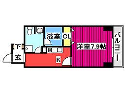 KDX定禅寺通レジデンス 14階1Kの間取り
